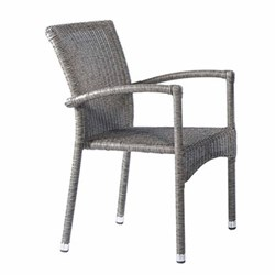 Monte Carlo Stacking armchair, H85 x W53cm, mid grey