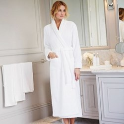 Bath robe with shawl collar extra small