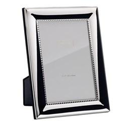 "Silver Shot Photograph frame, 5 x 7"", silver plate"