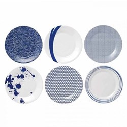 Pacific Set of 6 plates, 23cm, assorted