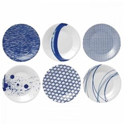 Pacific Set of 6 side plates, 16cm, assorted