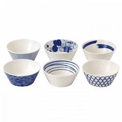 Pacific Set of 6 cereal bowls, 11cm, assorted