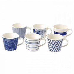 Pacific Set of 6 mugs, 45cl, assorted