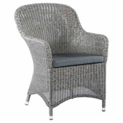 Monte Carlo Armchair with cushion, H90 x W62cm, mid grey