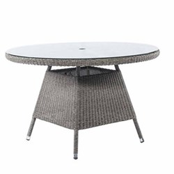 Table with glass top 120cm