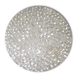 Acrylic - Mother of Pearl Set of 4 round coasters, 10cm