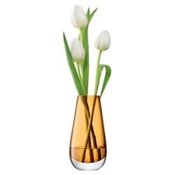 Flower Colour Bud vase, 14cm, amber