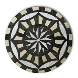 Set of 4 round tablemats 25cm
