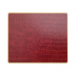 Texture Range - Croc Set of 4 placemats, 30 x 22cm, burgundy