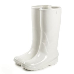 Rainboots Vase/umbrella stand, H36 x 27 x 20cm, white