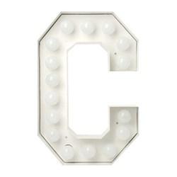 Alphabet lamp 'C' 60cm