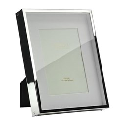 "Box Photograph frame, 5 x 7"", silver plate"