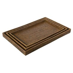 Set of 3 nested serving trays W40 x D60 x H6cm