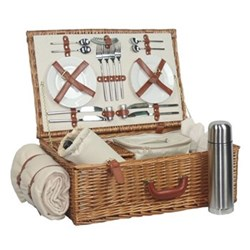 Picnic hamper 4 person 58 x 38 x 22cm