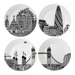 Set of 4 plates 22cm