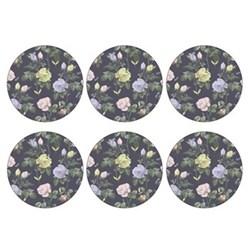 Set of 6 round coasters 10.5cm