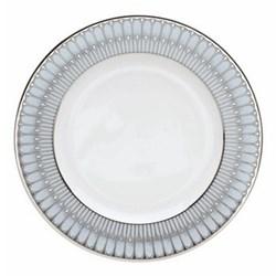 Arcades Dinner plate, 26cm, grey and platinum