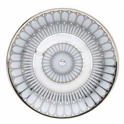 Arcades Bread plate, 22cm, grey and platinum
