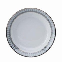 Arcades Rimmed soup plate, 22cm, grey and platinum