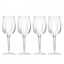 John Rocha - Weft Set of 4 wine glasses