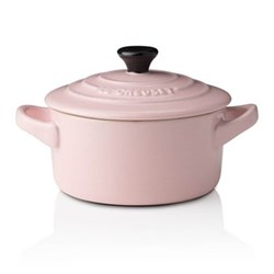 Stoneware Petite round casserole, 9 x 5cm - 25cl, chiffon pink