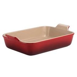 Stoneware - Heritage Rectangular dish, 26.5 x 19 x 6cm - 2.3 litre, cerise
