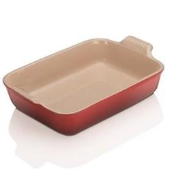 Stoneware - Heritage Rectangular dish, 32 x 28 x 6.5cm - 3.85 litre, cerise