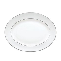 Opal Innocence Stripe Oval platter, 33cm