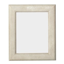 """Curved Photograph frame, 8 x 10"""", taupe faux shagreen"""