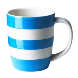 Set of 4 mugs, 34cl, blue