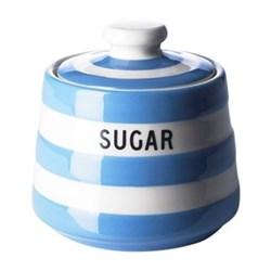 Covered sugar bowl, 10 x 10cm, blue