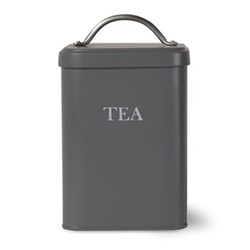 Tea canister, H20 x W12 x D12cm, charcoal