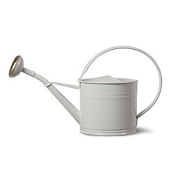 Watering can - 1.5L, H21 x W30.5 x D14cm, chalk coloured coated steel