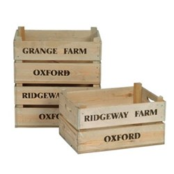 Set of 3 wooden fruit boxes, spruce