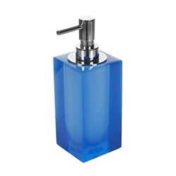 Hollywood Lotion pump, W6.4 x D6.4 x H19.7cm, blue