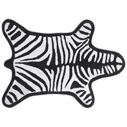 Zebra Bath mat, 112 x 78cm, black