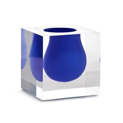 Mini Bel Air Mini scoop vase, H11 x D11cm, cobalt blue