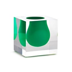 Mini Bel Air Mini scoop vase, H11 x D11cm, emerald green