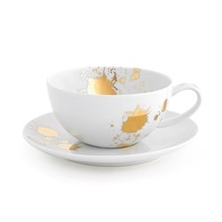 1948° Teacup and saucer, gold/white