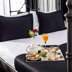 Honeymoon breakfast in bed for two