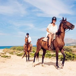 Horseback beach tour for two