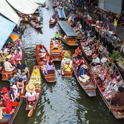 Floating market tour for two