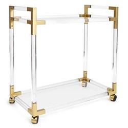 Jacques Bar cart, W81 x D45.7 x H84cm, brass/clear lucite