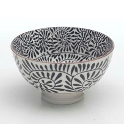 Tue Set of 6 small bowls, 11.5cm, black