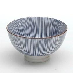 Tue Set of 6 small bowls, 11.5cm, blue stripes