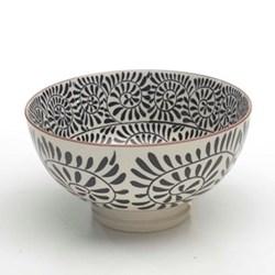 Tue Set of 6 medium bowls, 15.2cm, black
