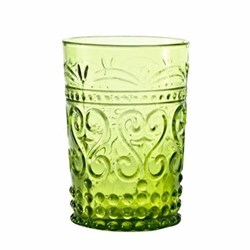 Provenzale Set of 6 straight sided tumblers, 27cl, apple green