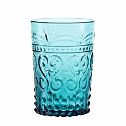 Provenzale Set of 6 straight sided tumblers, 27cl, Turquoise