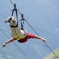 Zip wire experience for two