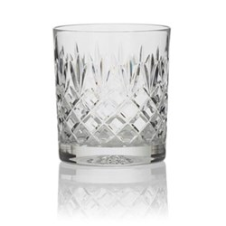 Pineapple Pair of double old fashioned tumblers, 28cl, clear